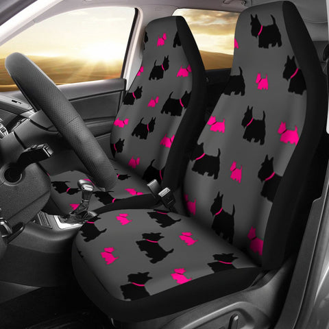 Scottish Terrier Print Car Seat Covers-Free Shipping