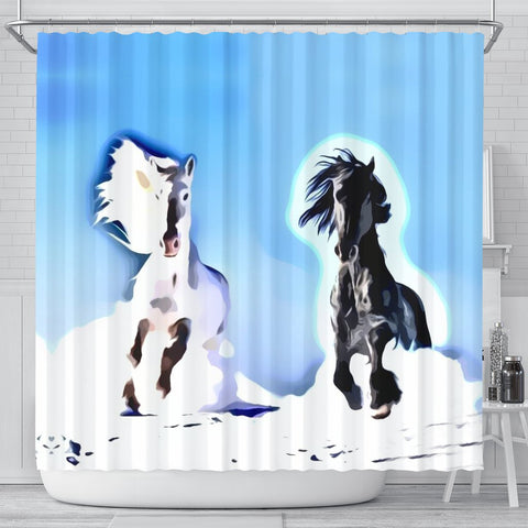 Andalusian horse Print Shower Curtain-Free Shipping