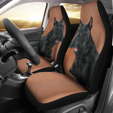 Scottish Terrier Print Car Seat Covers- Free Shipping