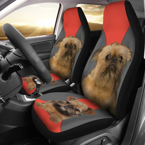 Brussels griffon Print Car Seat Covers- Free Shipping