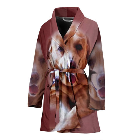 Amazing Labrador Retriever Print Women's Bath Robe-Free Shipping