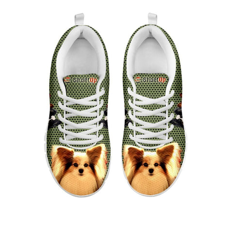 Amazing Papillon  Dog-Women's Running Shoes-Free Shipping-For 24 Hours Only-Paww-Printz-Merchandise