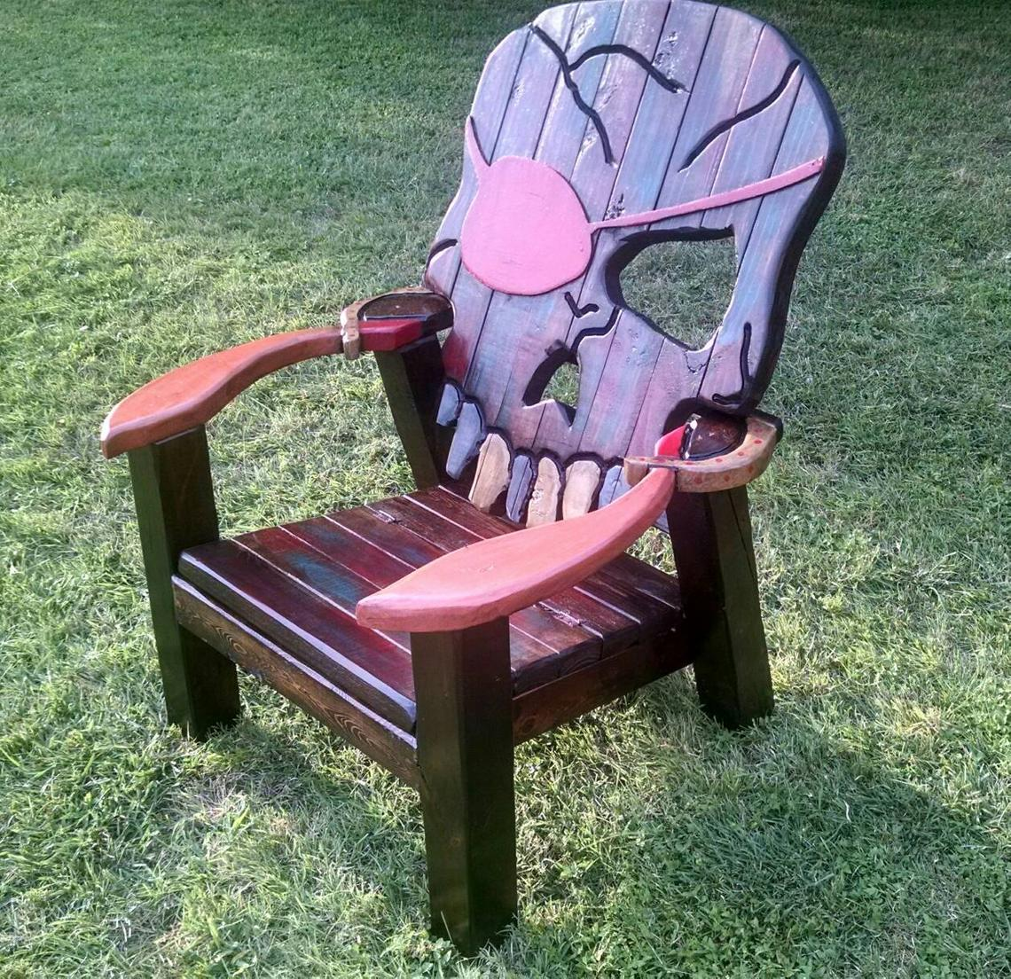 Awesome skull chair