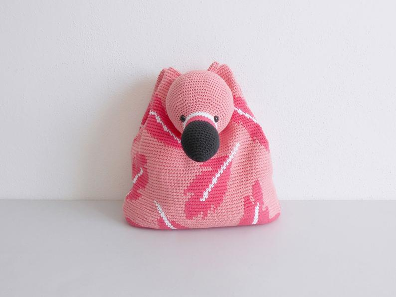 Crochet pattern for Flamingo Bag