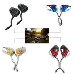 1 Pair Motorcycle Handlebar Skull Hand Pattern Ghost Claw Rearview Side Glass Mirror Modified Accessorie for Street Cars Scooter
