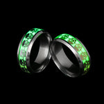 1 Pcs Luminous Skull Rings for Men Gold Silver Glow In The Dark Rings Stainless Steel Women Rings Jewelry