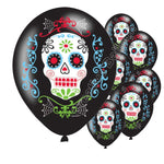 Set 50/40/30/20/10  Pcs sugar skull balloon