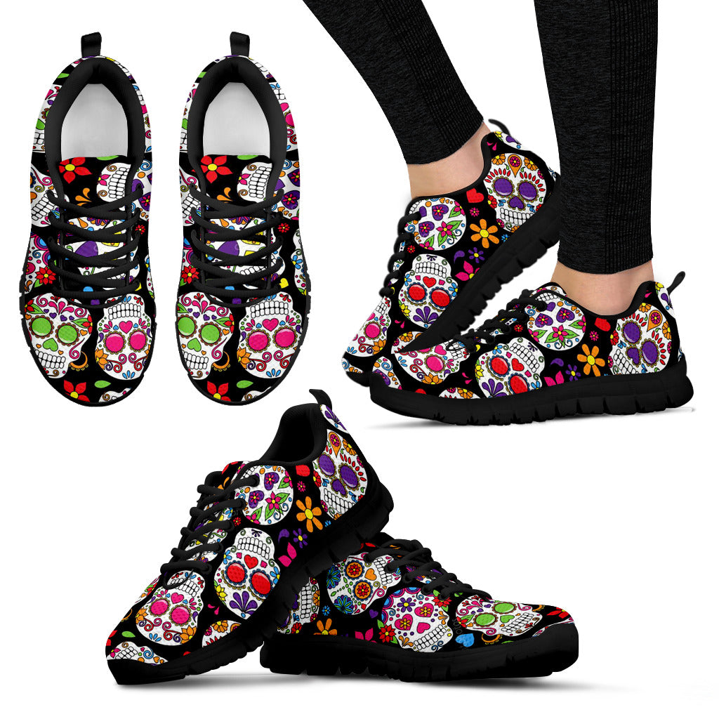 Women's sugar skulls sneakers