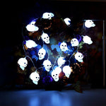 Skull LED String Lights Halloween holiday Christmas Party Garden Decoration
