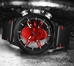 Men's Watches Punk 3D Hollow Skull Sport Watch Quartz Mens Watches Top Brand Luxury Waterproof Relogio Sports Skull Watch