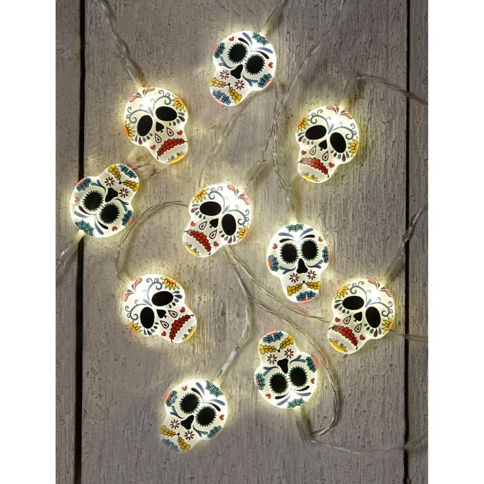Loft Living Day of the Dead 10-Foot LED String Lights