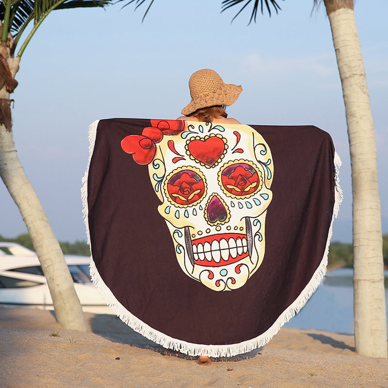 Gypsy Tablecloth Beach Towel Tassel Bikini Cover-Up Mat