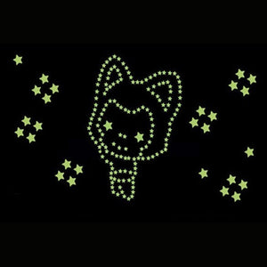180 Pcs Stars Glow in the Dark Luminous Fluorescent Plastic Cute  Wall Decoration for Kid Home for Wedding birthday Gift