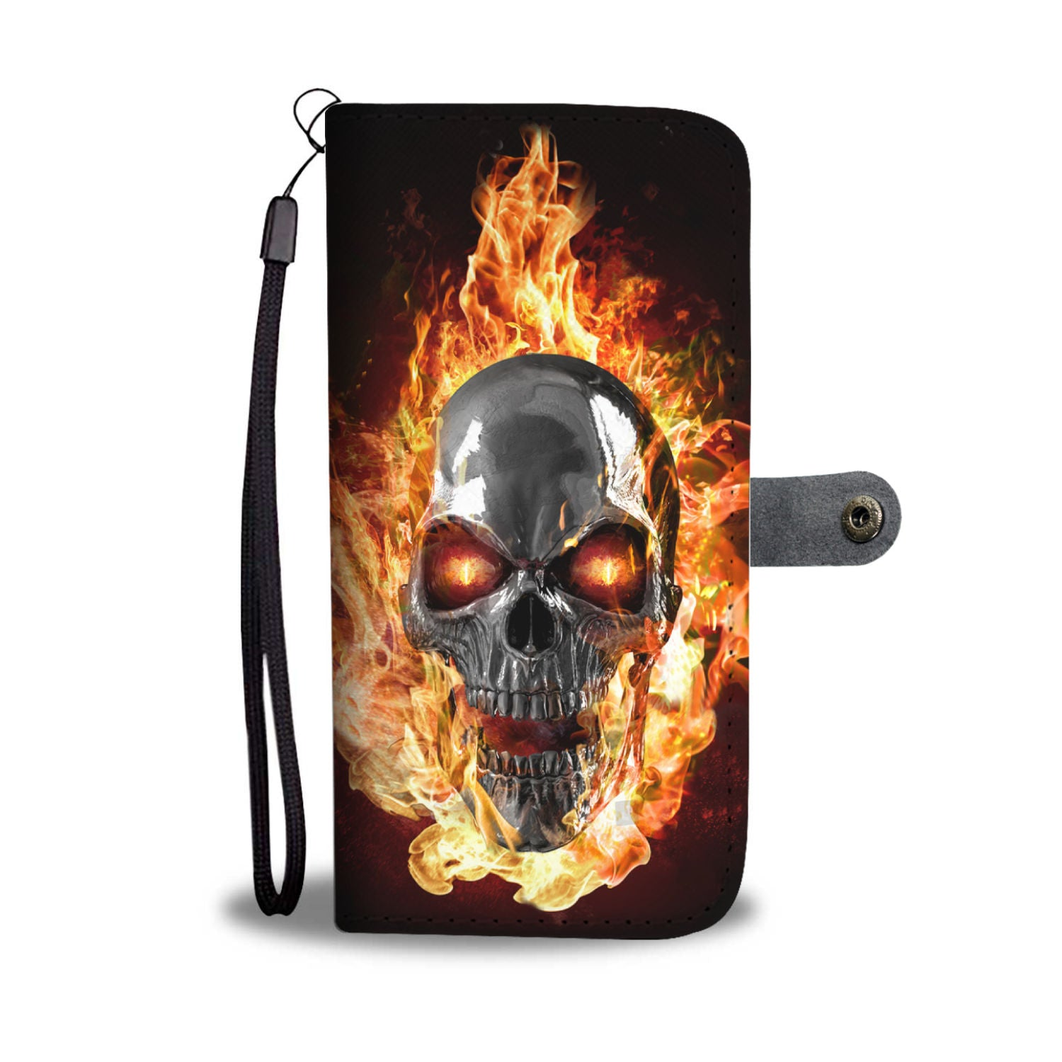 Burning skull - phone case - all phones