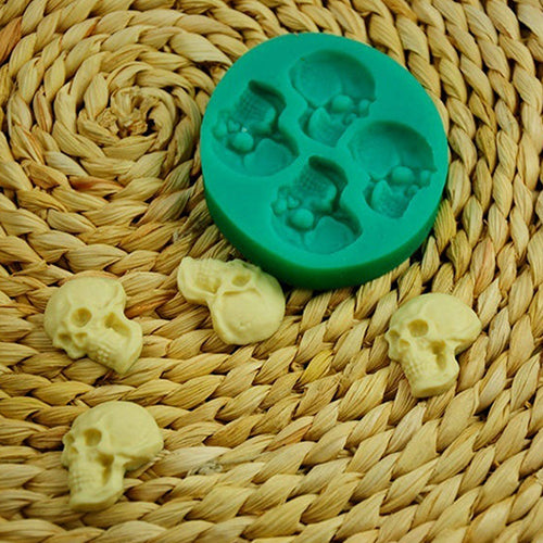 1PC 3D Skull Head Silicone Mold DIY Chocolate Candy Molds Party Cake decorating Tools