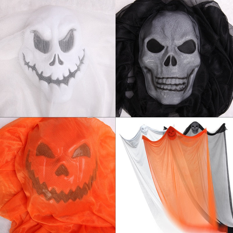 1PC Halloween Decoration Hanging Ghost Terror Props Theme Party Drop Ornament Scary Skull Haunted House Bar Decoration