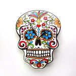 Sugar Skull Wall Clock Modern Design Dia De Los Muertos Day of the Dead Wall Clock Floral Skull Wall Watch