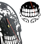 1Piece The Day of Death Mexican Skull Ornament Quartz Ring Face Vintage Art Home Decor Wall Clock
