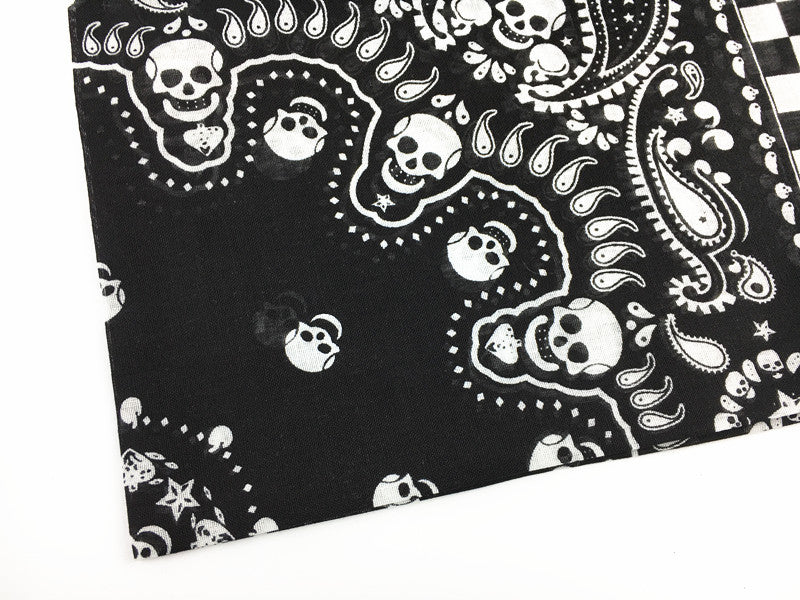 1pc Fashion Men Women Bohemian Paisley Skull Head Print Hairbands Hiphop Cotton Headbands Scarves Ethnic Turban