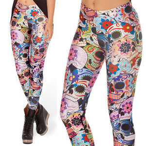 3D Candy Skull Women Legging Womens Leggings Jeggings Legings Sexy Legging Pants Legins Sexy Printed Leggings
