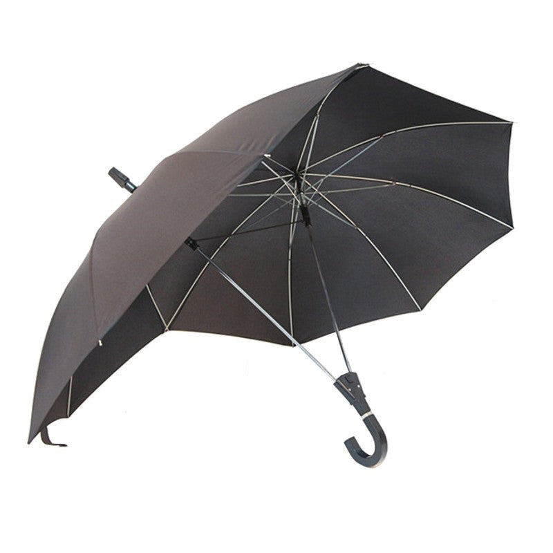Novelty Automatic Two Person Umbrella Parasol Lover Couples Umbrella Two Head Double Rod Umbrella Bumbershoot
