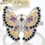 Fashion Gothic Style Butterfly Skull Ring for Men and Women  Jewelry