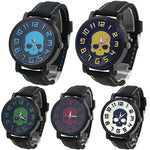 Fashion Sports Men's Watch Silicone Skull Punk Quartz Wrist Watch