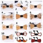 Hot Fashion Mens Wooden Bow Tie Accessory Wedding Party Christmas Gifts Bamboo Wood Bowtie Neck Wear for Men Women cravat