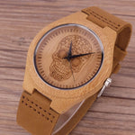 New Arrive Wood Watches Design Flower Skull