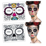 Hot Zombie DAY OF THE DEAD temporary tattoo mask costume Sugar Skull