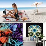 Super Soft Skull Bone Tapestry Wall Bedspread Beach Towel Mat Blanket Table Beach towel