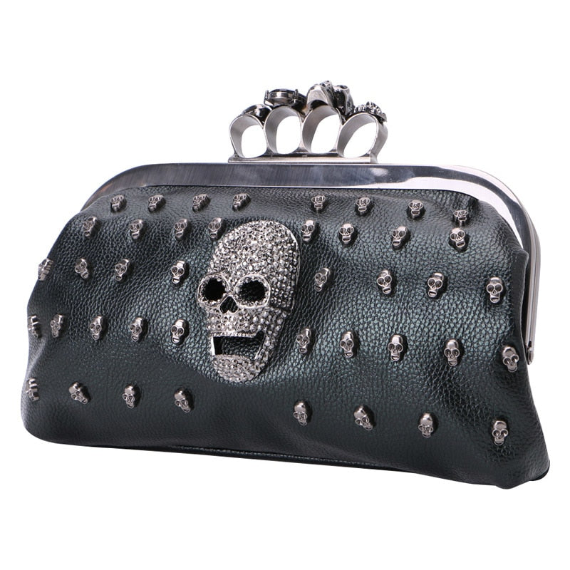 Women Girl Lady Skull Rivet Shoulder Bag Handbag