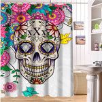24 Style Custom Classic Skull Bathroom Waterproof Shower Curtain Durable Classic Bathroom decorative