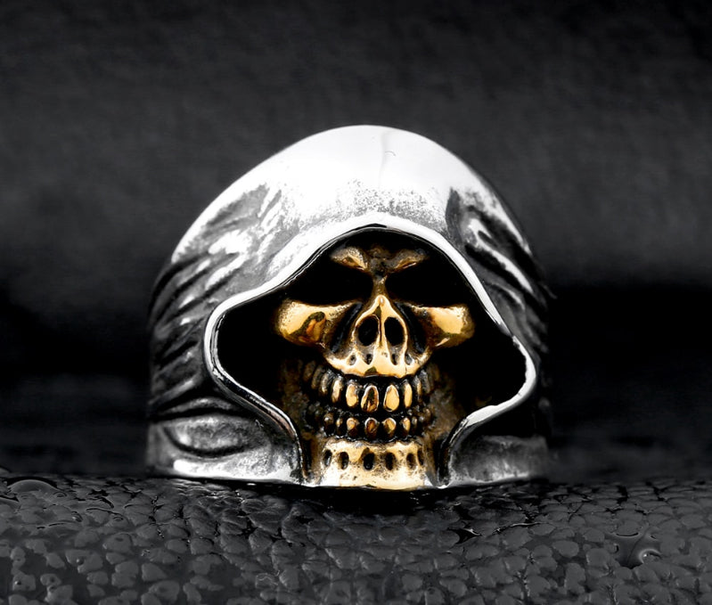 good detail the death skull vintage ring for man stainless steel movie style hot sale skull jewelry
