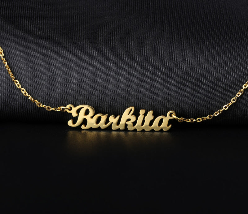 Name Necklace Gold Color Stainless Steel Personalized Custom Necklaces