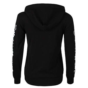 Women Hoodies Zip Up Tops Fashion Skull Flowers