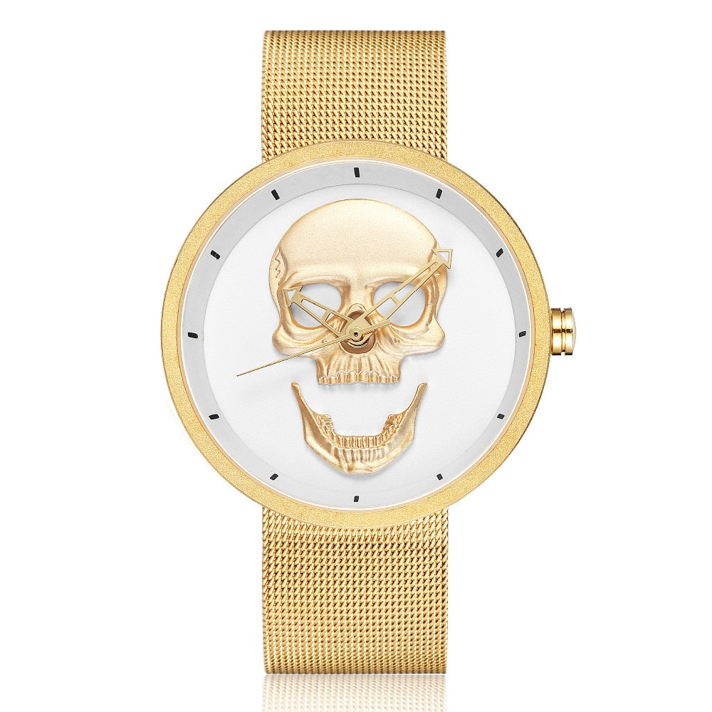 3D Skull Watch for Men & Women Luxury Famous Brand Steampunk Engrave