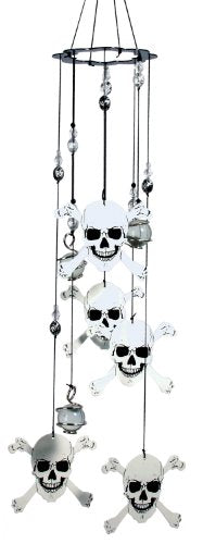 Spoontiques Skull and Crossbones Wind Chime