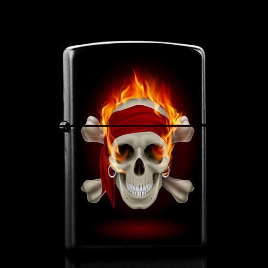 5 PCS Cheap Skeleton retro vintage kerosene lighter skull cigarette