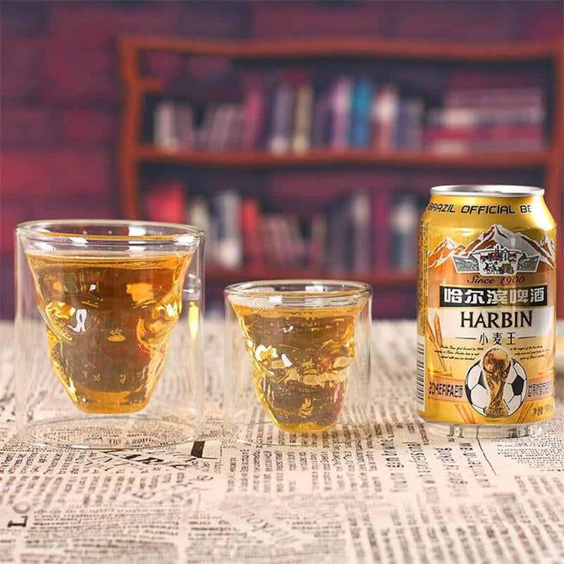 5 PCS Doomed Skull Head Shot Glass Cup Beer Mug Wine Glass Mug