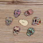 50 pcs Fahion Buttons Wood Sewing Scrapbooking Random color