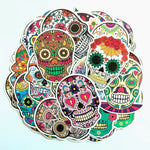 50pcs/set Colorful skull Stickers