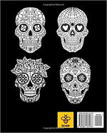 Sugar Skull : Midnight Adult Coloring Book.