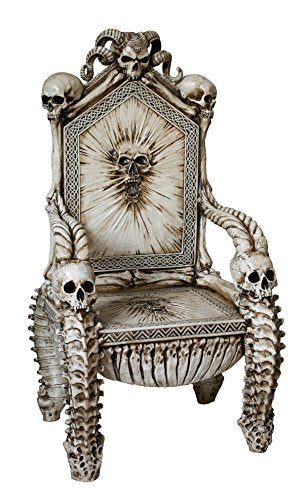 Pacific Giftware Dark Ruler the Underworld Skull Throne Chair 57 Inch Tall