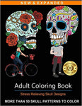 Adult Coloring Book: Stress Relieving Skull Designs