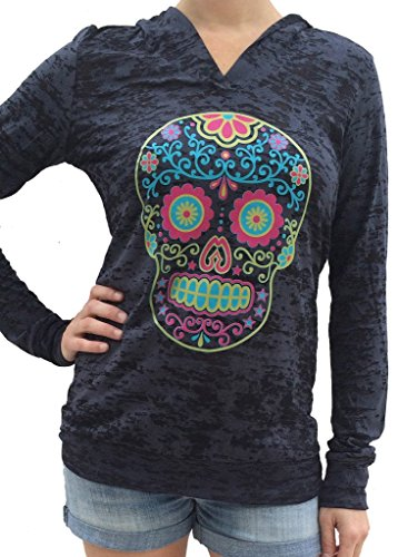 Sugar Skull Burnout Hoody