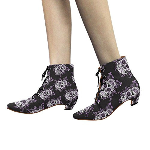 Unique Debora Custom Pointed Toe Low Heel Booties Ankle Short Boots for Women