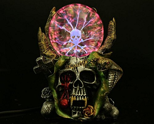Halloween Plasma Skull Ball Light , Skull Ornaments Resin Home Decoration,