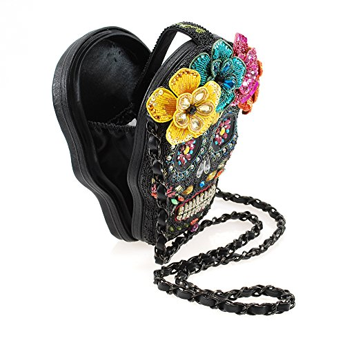 Dead of Night Embellished Sugar Skull Cross-body Handbag