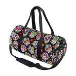 Day Of The Dead Sugar Skull Travel Duffle Bag Sports Luggage with Backpack Tote Gym Bag for Man and Women